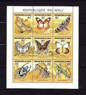 Mali 1994 Butterflies MNH Mi.1291-99A Klb. --(cv 10) - Insekten