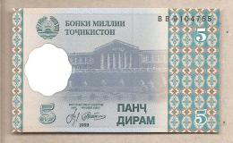 Tagikistan - Banconota Non Circolata FDS Da 5 Dirams - 1999/2000 - Tagikistan