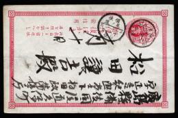 A4002) Japan Ganzsachen-Karte 1 Sn. Rot Gebraucht Used - Cartas
