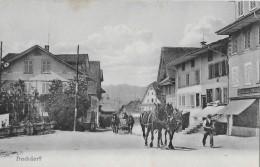HOCHDORF → Dorfstrasse Mit Fuhrwerk Und Bauer Mit Pferden - LU Lucerne
