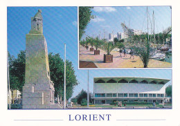CPM LORIENT - Le Monument Aux Morts Et Le Palais Des Congrès, Le Port De Plaisance - Lorient