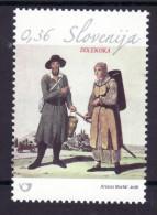 2031/ Slowenien Slovenia Slovenie 2016 Mi.No. 1183 ** MNH National Costume Volkstracht - Eslovenia
