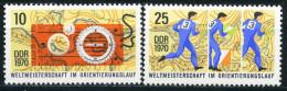 DDR - Mi 1605 / 1606 - ** Postfrisch (B) - 10-25Pf         WM Orientierungslauf - Ongebruikt
