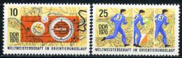 DDR - Mi 1605 / 1606 - ** Postfrisch (D) - 10-25Pf                  WM Orientierungslauf - Ongebruikt