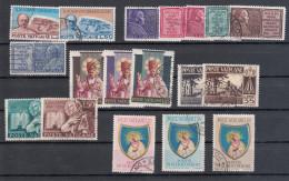 Vaticano - 1954 - Annata Completa   Complete Year Set (annullati) - Annate Complete