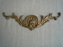 Ornement Meuble Ancien En Bronze Coquille Laurier Style Louis XV Ou Louis XVI. Voir Photos. - Meubles