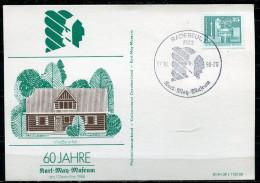 """DDR,1988 Sonderkarte/Card Karl-May-Museum 1988 Mit Mi.Nr.2521 Und SST""""Radebeul-Karl May-Museum """"1 Beleg - American Indians"""