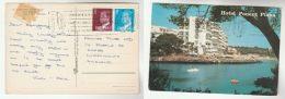 1980 SPAIN COVER Mallorca (postcard HOTEL PONENT PLAYA) To Switzerland Stamps - 1931-Aujourd'hui: II. République - ....Juan Carlos I