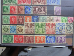 GB Edouard VIII Georges VI 1936-1940  Scott 230-257 - Used Stamps