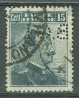 ITALIA 1911: Sassone 96 / YT 92 / Mi 104, PERFIN, O - FREE SHIPPING ABOVE 10 EURO - Usados