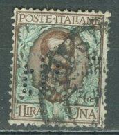 ITALIA 1901: Sassone 77 / YT 73, PERFIN, O - FREE SHIPPING ABOVE 10 EURO - Usados