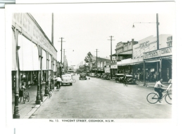 Australia NSW Cessnock, Vincent Street, Photo Card, Nice Street Detail. - Places