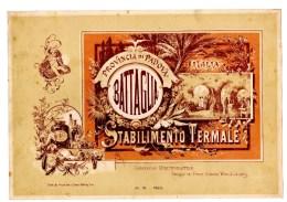 Affiche Planche Chromo Plakat Env. 28x19 Cm 1890 Battaglia Padova Stabilimento Termalei Italia - Chromo