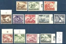 1944  GERMANIA REICH   Serie Completa Nuova */** MNH MLH - Germania