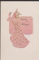 CPA:Pousthomis:Art Nouveau:Femme Au Papillon - Sin Clasificación