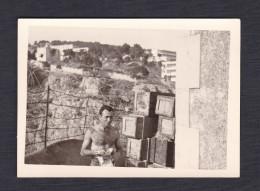 Photo Originale Cantro Maitro  ( Contre Maitre ? )  Corse Depot Armement Casba Constantine Guerre D'  Algerie - Oorlog, Militair