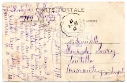 Cachet Censura 1917 Franchise Militaire Portugal - Militaria