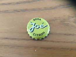 "Ancienne Capsule De Soda ""Joé SODA CITRON"" (intérieur Liège) - Soda"