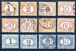 REGNO 1870 1874 Segnatasse Cifra In Ovale Prima Tiratura Serie Completa 12v. Annullata Usata - Postage Due