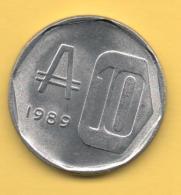 ARGENTINA - 10 Australes 1989 SC  KM102 - Argentina