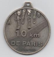 Médaille Marathon : 10 Km De Paris : 6 Juin 1999 : Sans Ruban - France