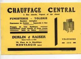 Buvard - Chauffage Central, Durlin Et Raiser, Montargis - Vloeipapier