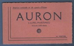 06 ALPES MARITIMES - CARNET COMPLET DE 10 CARTES POSTALES DE AURON - COLLECTION ROUSSY SCHEINEDER BAR TABACS AURON - MAR - France