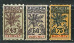 DAHOMEY 27 à 29 * - Dahomey (1899-1944)