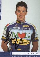3677 CP Cyclisme   Nicola Loda Dédicacée - Cyclisme