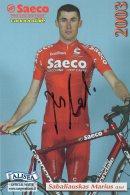 3685 CP Cyclisme  Marius Sabaliauskas  Dédicacée - Cyclisme