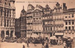"""04277 """"BRUXELLES - MAISON DES CORPORATIONS - PLACE DE L'HOTEL DE VILLE"""" ANIMATA. CART. NON SPED. - Belgio"""
