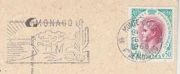 1968 MONACO Stamps COVER (postcard) SLOGAN Pmk Illus CATCUS Cacti To Switzerland - Cactusses