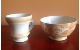 TAZZA BOLO Marcata SIGNA + BOCCALE Primi '900 - Ceramics & Pottery