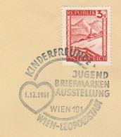 1961 AUSTRIA Stamps COVER EVENT Pmk  KINDERFREUNDE Jugend BRIEFMARKEN AUSSTELLUNG - 1945-.... 2nd Republic