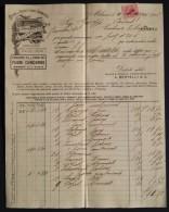"""04281 """"A. BERTELLI-MILANO SOC. DI PRODOTTI CHIMICO-FARMACEUTICI"""" FATTURA 1916 - Italia"""