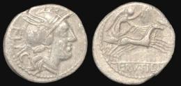 Roman Republic - Silver Denarius, L.Rutilius Flaccus-Roma, 77 BC - Romaines