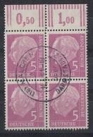 Bund Minr.179 OR 4er Block Gestempelt - BRD