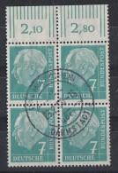 Bund Minr.181 OR 4er Block Gestempelt - BRD