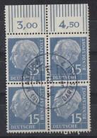 Bund Minr.184 OR 4er Block Gestempelt - BRD