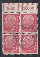 Bund Minr.185 OR 4er Block Gestempelt - BRD