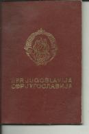 S. F. R.  YUGOSLAVIA  ---    PASSPORT  --  1979 - Historische Dokumente