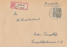 Berlin Orts-R-Brief EF Minr.53 Berlin 16.12.52 - Briefe U. Dokumente