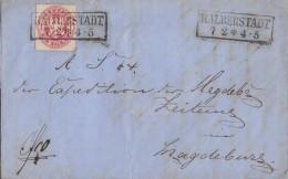 Preussen Brief EF Minr.16 R2 Halberstadt 7.2. Gel. Nach Magdeburg - Preussen
