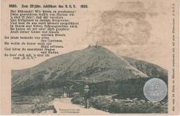 Litho AK 25 Jubiläum Riesengebirgsverein RGV 1905 Hirschberg Rübezahls Reich Vignette Briefmarke Stempel Schneekoppe - Sudeten