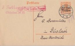 Gen.- Gouv. Warschau Ganzsache Minr.P5 Warschau 10.5.17 Zensur Posen - Besetzungen 1914-18
