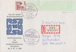 Bund Orts-R-Brief EF Minr.998 RE1 + LF4 SST Remscheid 27.4.80 - Rollenmarken