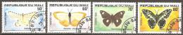 Mali - 1980 - Papillons - YT 392 à 395 Oblitérés - Butterflies