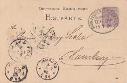 DR Ganzsache Bpst. Fröndenberg-Letmathe Zug 32  15.7.86  Gel. Nach Hamburg - Deutschland