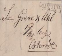Brief R2 Aurich 16.8.1831 Gel. Nach Osterode - Deutschland
