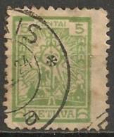 Timbres - Lituanie - 1923/25 - 5c. - - Lituanie